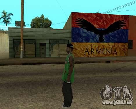 Grove Street Armenian Flag für GTA San Andreas