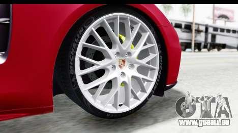 Porsche Panamera 4S 2017 v2 pour GTA San Andreas vue arrière