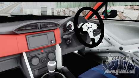 D1GP Toyota 86 2015 DRIVE pour GTA San Andreas vue intérieure