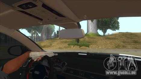 Audi RS6-R für GTA San Andreas Innenansicht