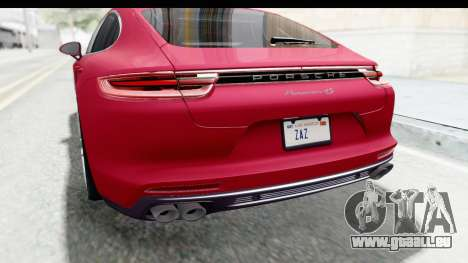 Porsche Panamera 4S 2017 v2 pour GTA San Andreas vue de dessous