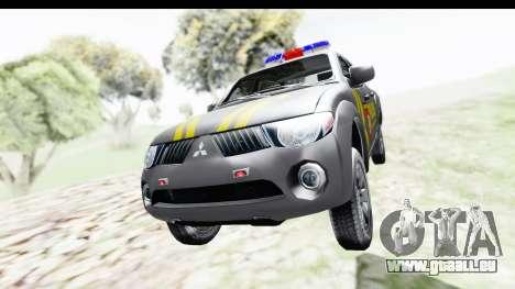 Mitsubishi L200 Indonesian Police pour GTA San Andreas vue de droite