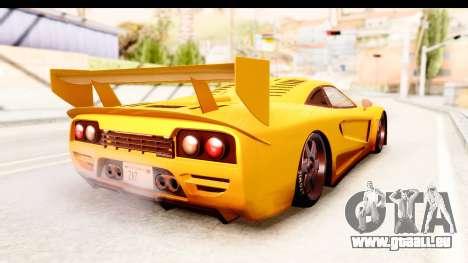 GTA 5 Progen Tyrus SA Style pour GTA San Andreas sur la vue arrière gauche