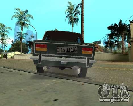 VAZ 2103 arménien pour GTA San Andreas vue arrière