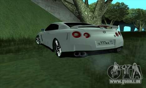 Nissan GT-R R35 Green Screen pour GTA San Andreas laissé vue