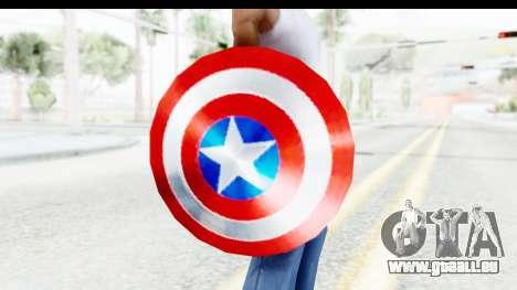 Capitan America Shield Classic pour GTA San Andreas troisième écran