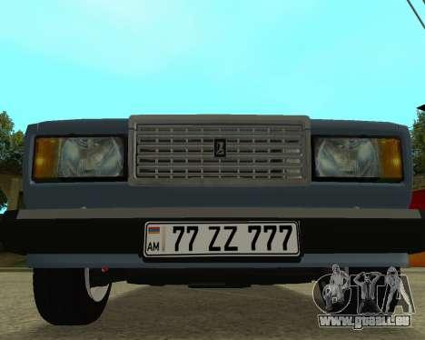 VAZ 2107 Armenian pour GTA San Andreas sur la vue arrière gauche