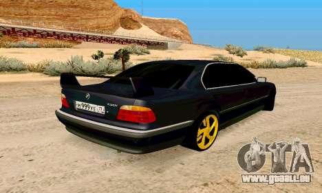 BMW 730 für GTA San Andreas zurück linke Ansicht
