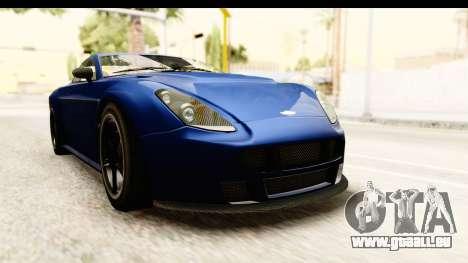 GTA 5 Dewbauchee Rapid GT pour GTA San Andreas vue de droite