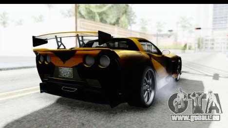 NFS Carbon Chevrolet Corvette pour GTA San Andreas vue de droite