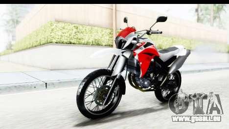 Yamaha XT 660R pour GTA San Andreas vue de droite
