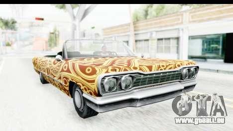 Savanna New PJ pour GTA San Andreas vue arrière