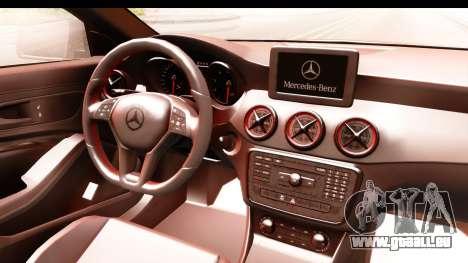 Mercedes-Benz CLA45 AMG 2014 pour GTA San Andreas vue intérieure
