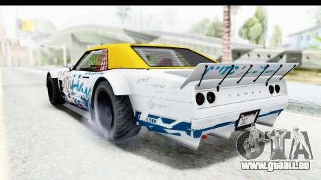 GTA 5 Declasse Drift Tampa pour GTA San Andreas vue de dessous