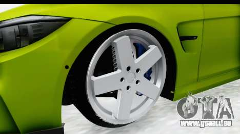BMW M3 F30 Hulk für GTA San Andreas Rückansicht