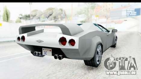 VCS Infernus pour GTA San Andreas vue de droite