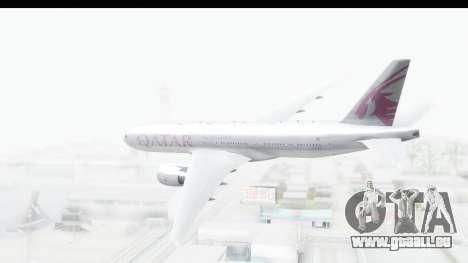 Boeing 777-200LR Qatar Airways pour GTA San Andreas vue de droite