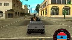 Le compteur de vitesse dans le style de l'arméni
