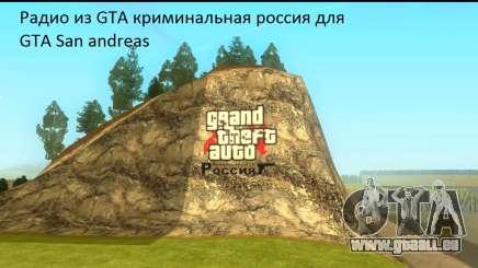 Radio von GTA Criminal Russland für GTA San Andreas