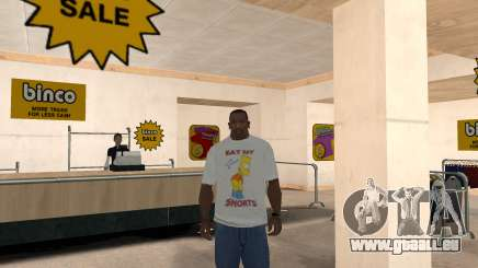 Bart Simpson T-Shirt pour GTA San Andreas