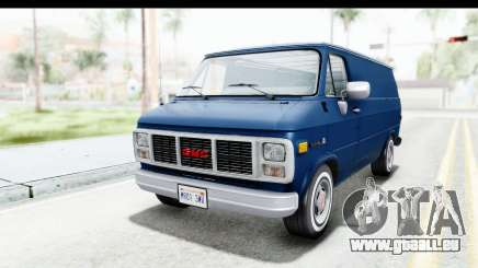 GMC Vandura 1985 White Stripes HQLM für GTA San Andreas