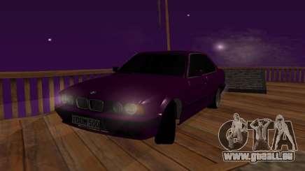 BMW série 5 E34 grey pour GTA San Andreas