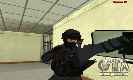 La peau de SWAT GTA 5 pour GTA San Andreas troisième écran