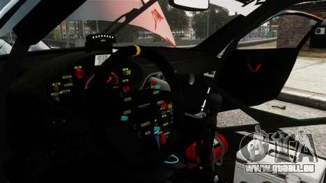 Porsche Rallye Vespas 911 GT3 RSR pour GTA 4 Vue arrière