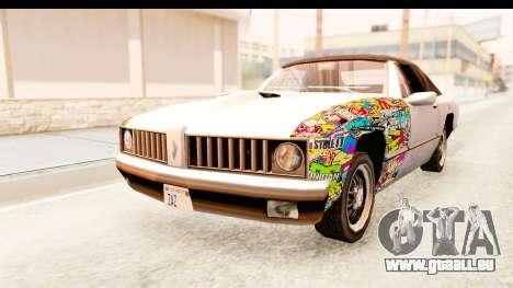 Stallion Sticker Bomb pour GTA San Andreas vue de droite