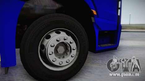Mercedes-Benz Actros Mp4 v2.0 Tandem Steam für GTA San Andreas rechten Ansicht