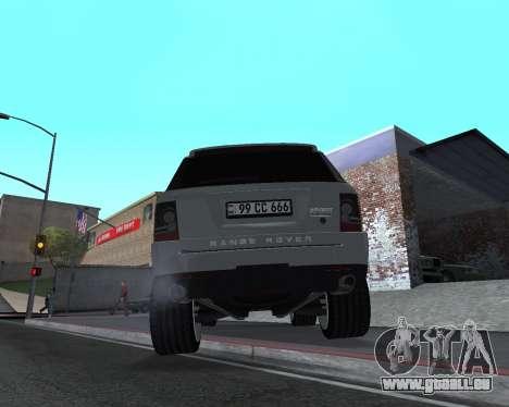 Range Rover Armenian pour GTA San Andreas vue arrière