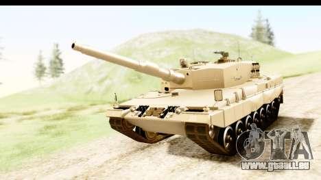 Leopard 2A4 pour GTA San Andreas vue de droite