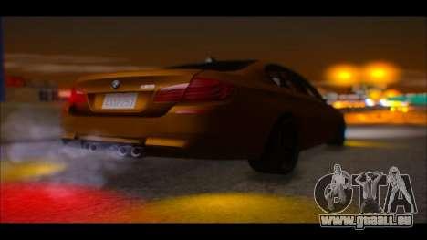 BMW M5 F10 2014 pour GTA San Andreas vue arrière