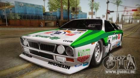 Lancia Rally 037 Stradale (SE037) 1982 IVF Dirt3 pour GTA San Andreas sur la vue arrière gauche