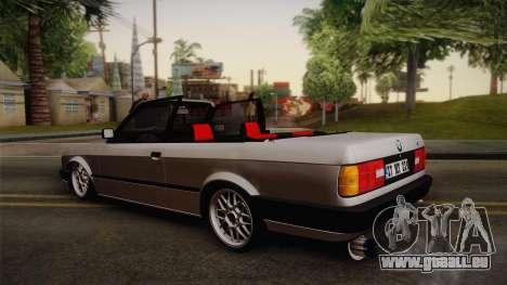 BMW M3 E30 1991 v2 pour GTA San Andreas laissé vue