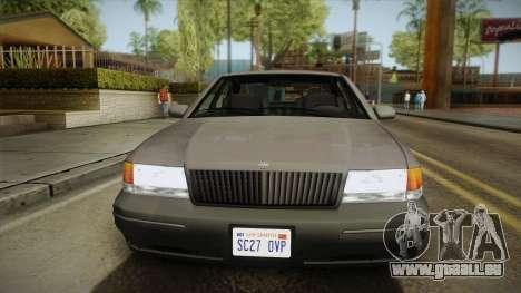 Willard Elegant SA Style pour GTA San Andreas sur la vue arrière gauche