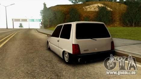 VAZ 1111 pour GTA San Andreas sur la vue arrière gauche