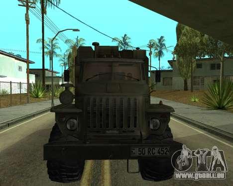 Ural 4320 Armenian für GTA San Andreas linke Ansicht