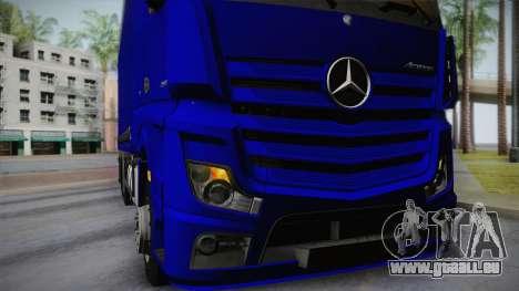 Mercedes-Benz Actros Mp4 v2.0 Tandem Steam für GTA San Andreas Innenansicht