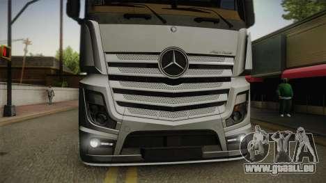 Mercedes-Benz Actros Mp4 6x4 v2.0 Steamspace v2 pour GTA San Andreas vue de droite