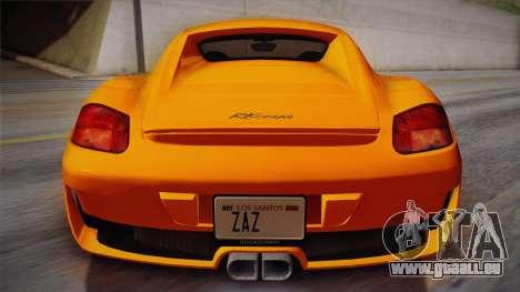 Ruf RK Coupe (987) 2007 IVF für GTA San Andreas Rückansicht