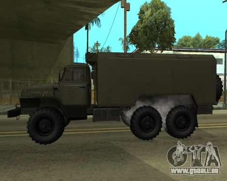 Ural 4320 Armenian für GTA San Andreas zurück linke Ansicht