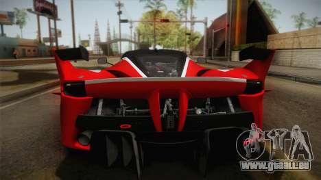 Ferrari FXX-K 2015 für GTA San Andreas Rückansicht