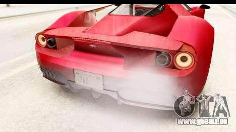 GTA 5 Vapid FMJ IVF für GTA San Andreas obere Ansicht