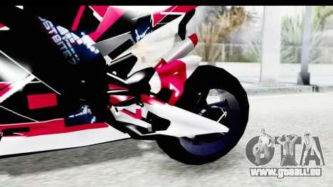 Dark Smaga Motorcycle with Frostbite 2 Logos pour GTA San Andreas vue intérieure