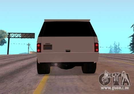 Huntley Rover pour GTA San Andreas vue arrière