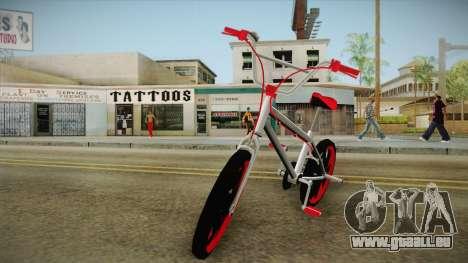 Dark Red BMX für GTA San Andreas zurück linke Ansicht