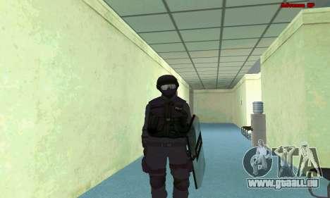 La peau de SWAT GTA 5 (PS3) pour GTA San Andreas sixième écran