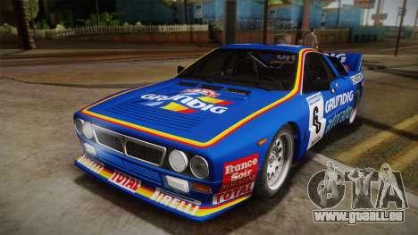 Lancia Rally 037 Stradale (SE037) 1982 IVF Dirt3 pour GTA San Andreas vue de droite