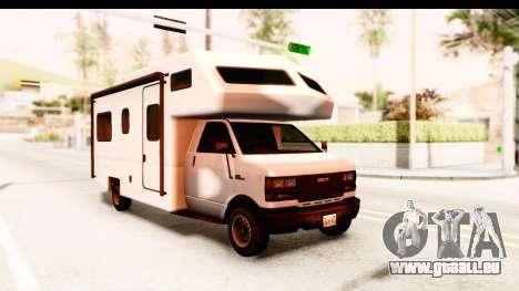 GTA 5 Camper pour GTA San Andreas sur la vue arrière gauche